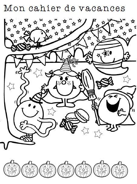 Cahier sur le thème d'halloween pour les vacances ou pour les derniers jours de la période... français et mathématiques pour des révisions CP, CE1, CE2
