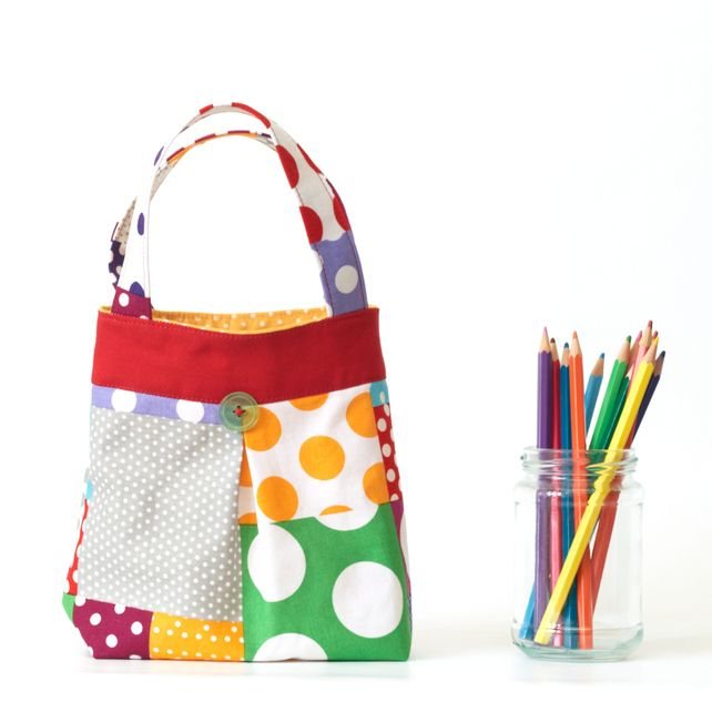 Bright Polka Dot Toddler Tote Children's Bag £18.50