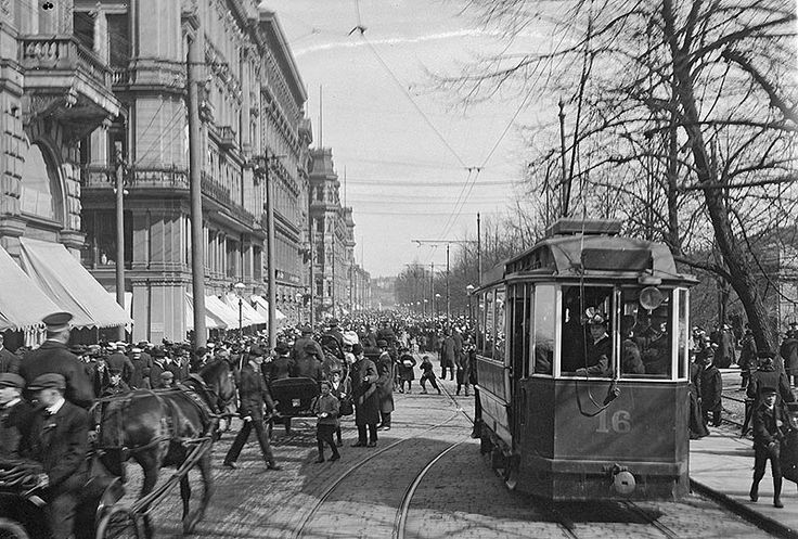 Esplanaadi 1900-luvun alussa Esplanade early 1900, Helsinki