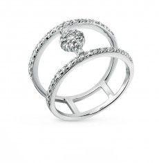 Кольцо, вставка:  фианит; Серебро 925 пробы. 31466
