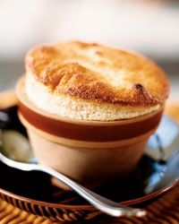 recipe for banana souffle.  i've never made it myself, only had it in restaurants, but i think it would be worth the time and trouble to make it.  if it doesn't turn out perfectly the first time (or the tenth time), i won't mind eating every one of those less-than-perfect finished products.