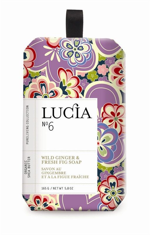 Lucia Wild Ginger & Fresh Figs Soap design by Lucia