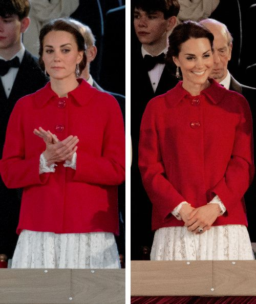 Catherine, Duchess of Cambridge along with Queen Elizabeth II during the final night of the