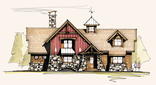 Pintail timber frame homes rustic home plans log for Rustic timber frame homes
