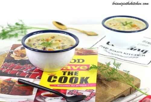 Haddock Chowder {Soupe de Haddock, Pommes de Terre, Carottes