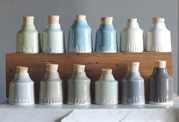 a cut above the resty! Custom spice jars @vitrifiedstudio ceramics ceramics