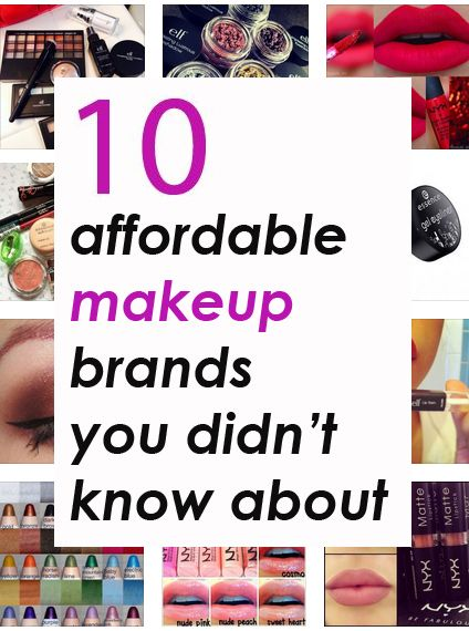 10 Affordable Makeup Brands You Didn't Know About!