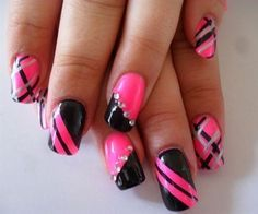 cool Black Gel Nail Polish Design Images