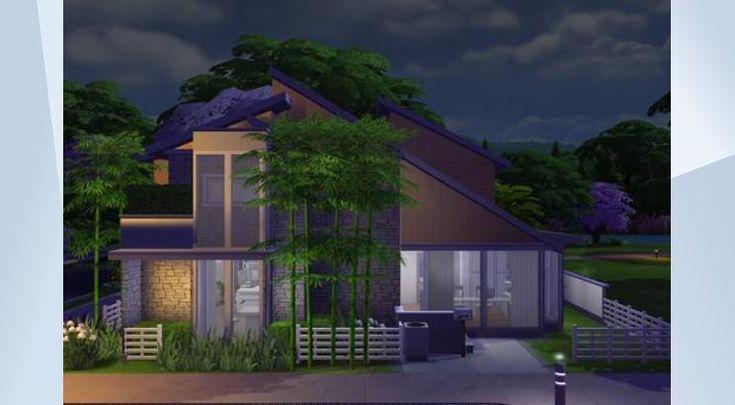 Tsekkaa tämä tontti The Sims 4 Galleriassa! - #whatasimhouse #modern #furnished #whitekitchen #pool #garden #landscaping #residential #house