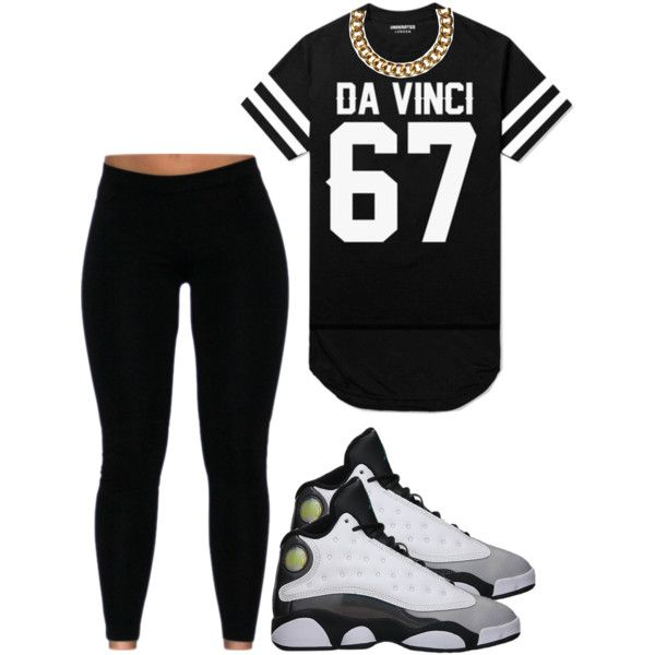 A fashion look from December 2014 featuring baseball jersey shirts, black velvet leggings and Club Manhattan. Browse and shop related looks.