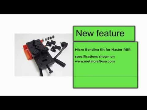 Master Rolling Bending Riveting Tool - New Feature  Micro Bending Kit