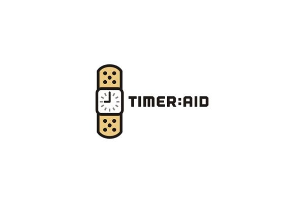 TIME AID - $350 (negotiable) http://www.stronglogos.com/product/time-aid #logo #design #sale #medical #time #watch #bandaid #help #quick