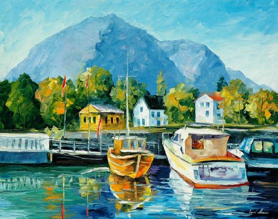Mountains Artwork - Mediterranean Noon — Seascape Oil Painting On Canvas By…