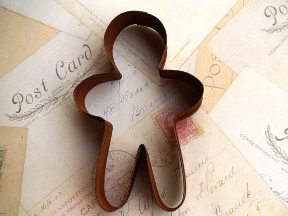 Gingerbread Man Primitive Rustic Cookie Cutter by heartsupplies, $4.00