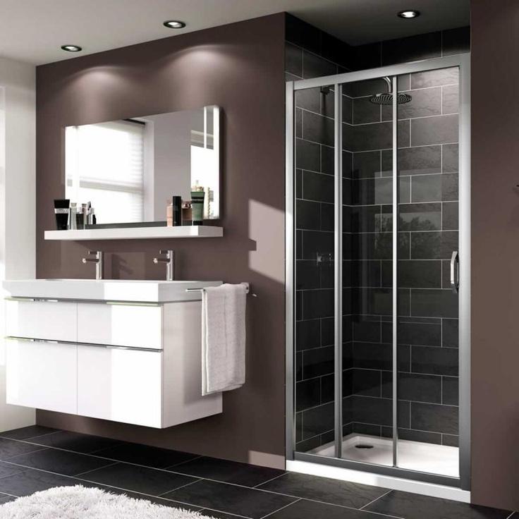 Bathroom Pinspiration. #Modern Huppe X1 3 Panel Sliding ...