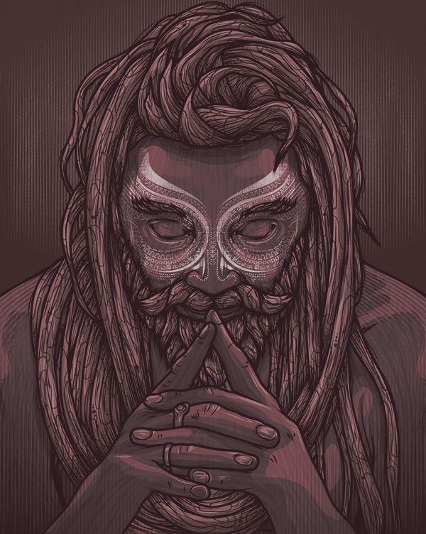 Meditation, 2013, vector work. by Kevin HOHLER, via Behance