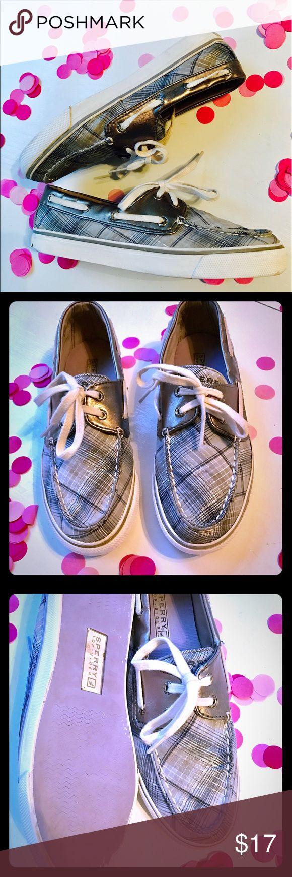 Sperry Topsider's Sperry  topsider loafers. Silver and navy. Sperry Top-Sider Shoes Flats & Loafers