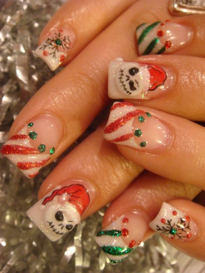 151 best Christmas Nail Art images on Pinterest   Christmas nails ...