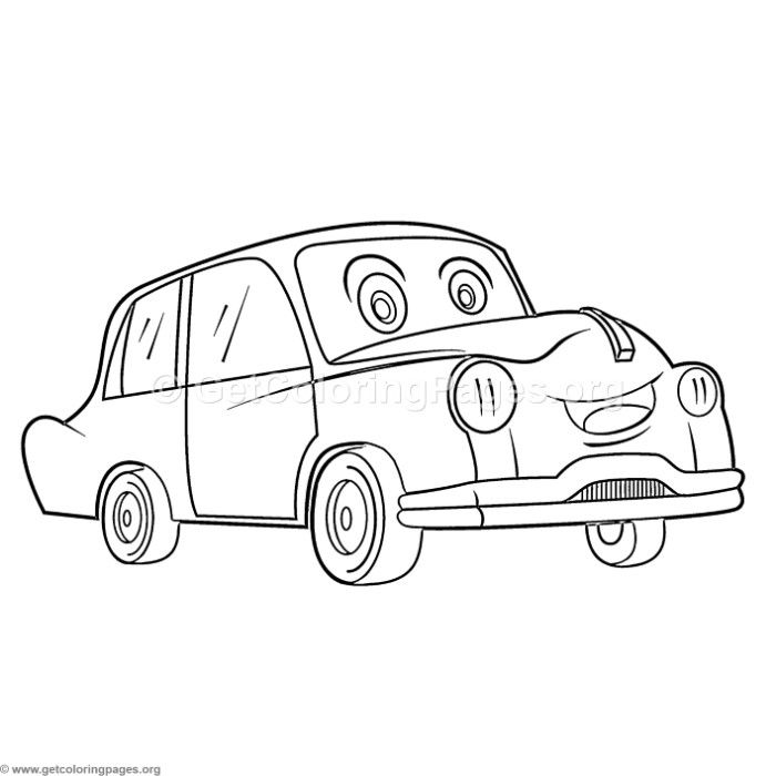 Download This Free Cute Cartoon Classic Car Coloring Pages
