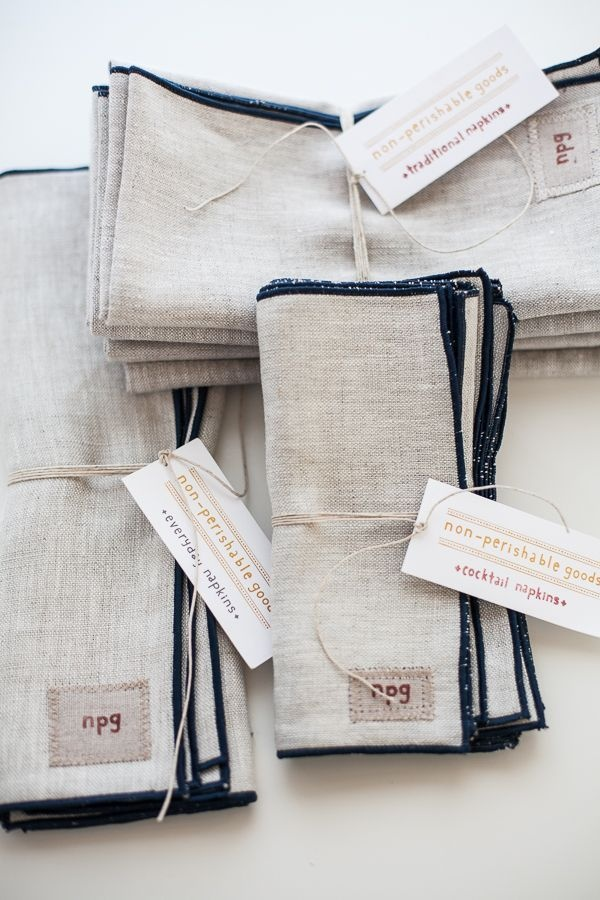 traditional napkin bundle by non-perishable goods