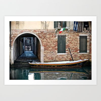 Winter Canal Art Print by LaCatrina.it