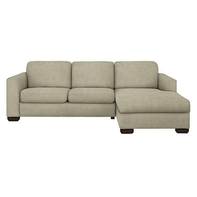 BuyJohn Lewis Cooper RHF Chaise End Sofa, Light Leg, Elena Mocha Online at johnlewis.com