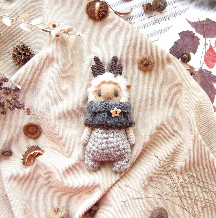 Toy deer Knit Toy Soft deer Gift for her Cute от LuboDorogo