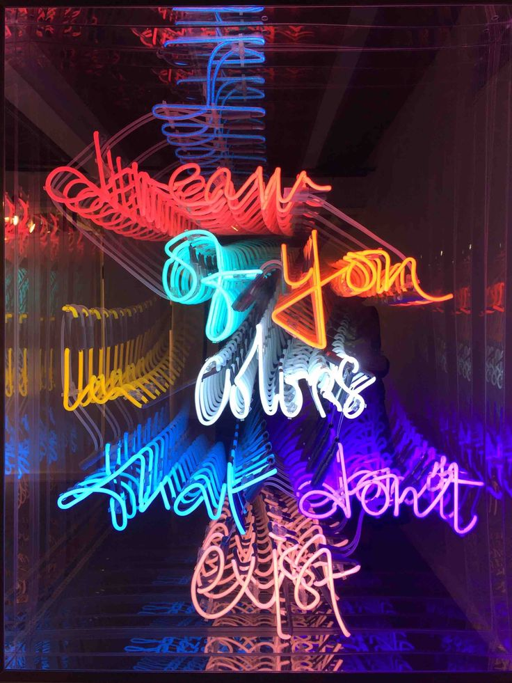 neon olivia steele artist colors dream lights light signs tracey emin exist painting young ahead ppl dreams don concept