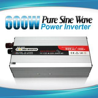 Pure Sine Wave Power Inverter 600w / 1200w 12v - 240v AUS plug Car Boat Caravan