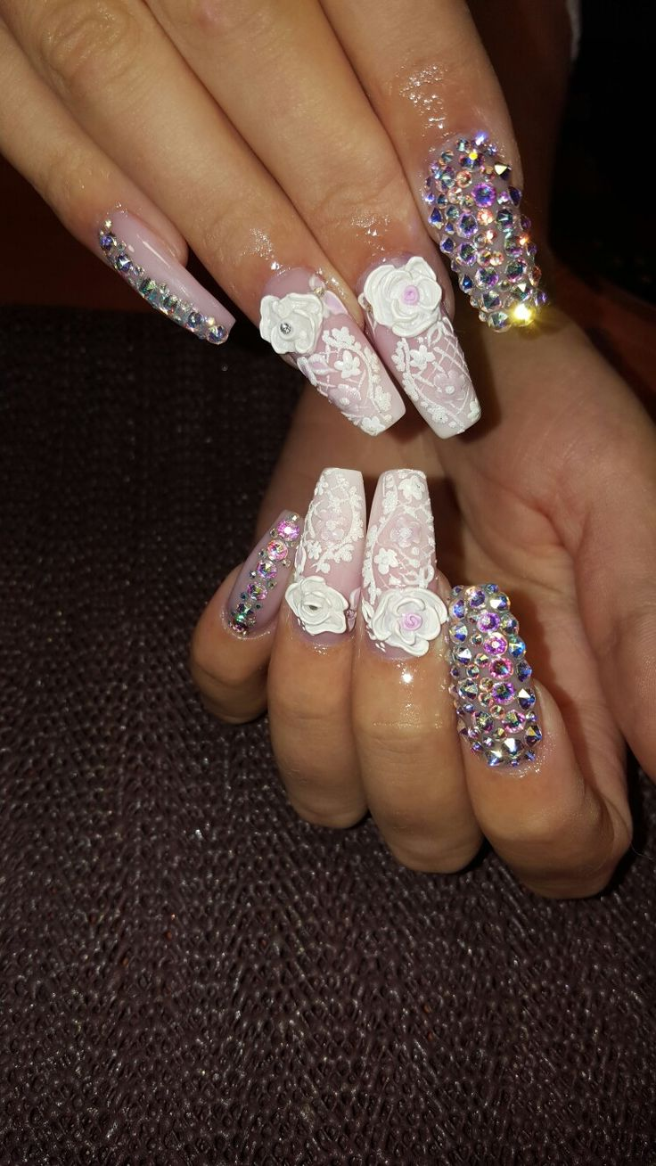 Wedding nails !! 😍😍😍