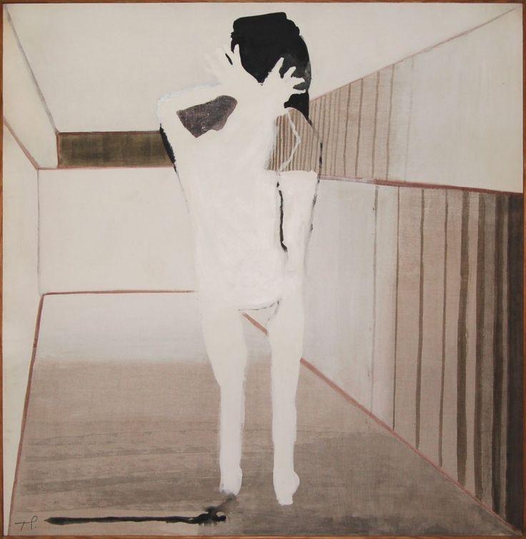 Teresa Pągowska - Biała, 1972, olej na płótnie, 145 x 140 cm