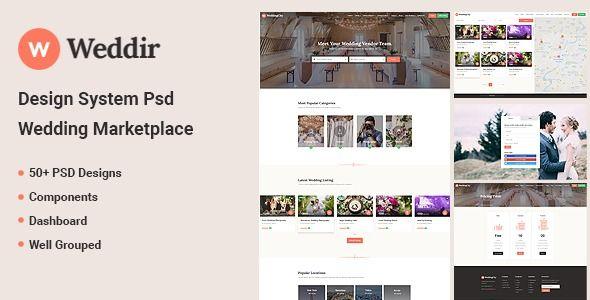 Weddir Design System Psd For Wedding Marketplace Stylelib Design System Psd Design