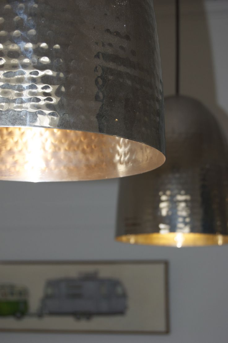 Hand made copper lights from Dunlin home