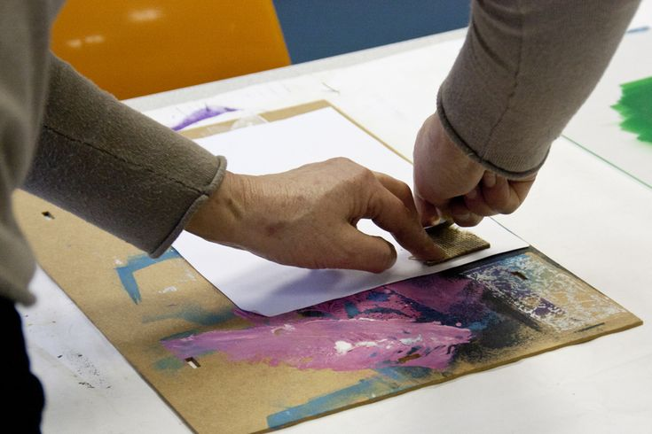 atelier de gravure - Maison Pour Tous d'Abbeville - intervenante Chloé Bureau