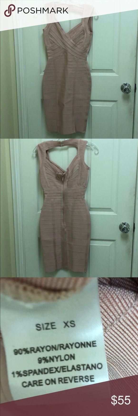 Custom made pink bandage dress. Custom made pink bandage dress. Brand new, never worn, missing the tag. Dresses