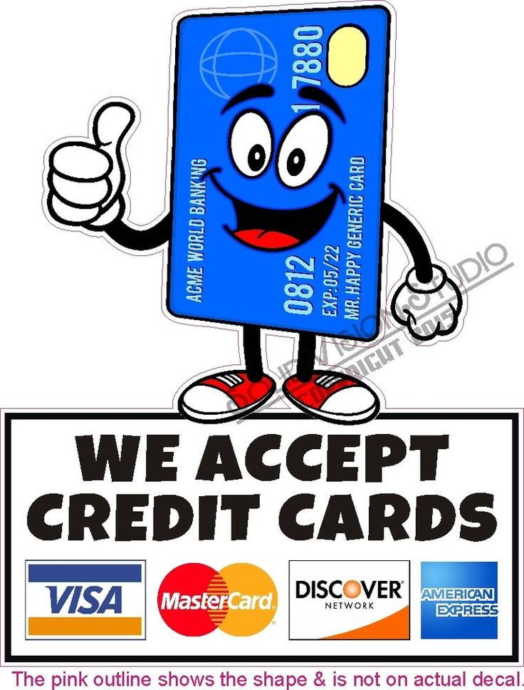 Delicate image with regard to we accept credit card signs printable