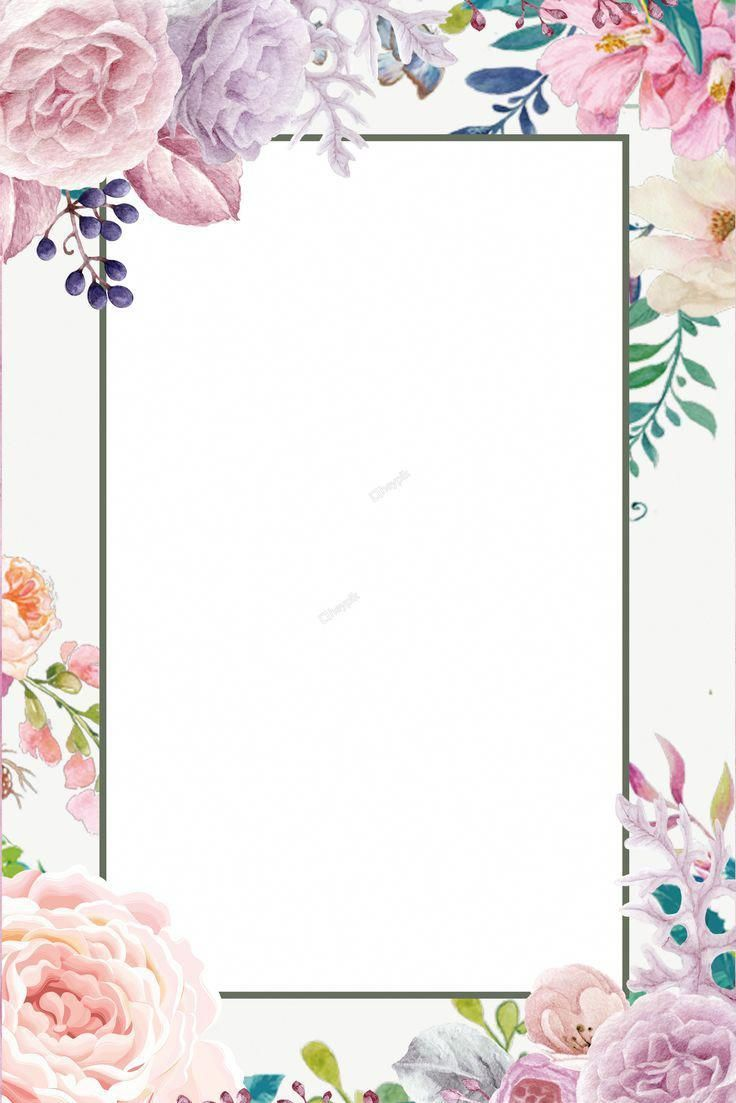 Fresh Flowers Simple Fresh Fresh Flower Background Poster