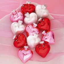 Shiny Glass Heart Ornaments from Current Catalog Pin these hearts to win them! Enter the giveaway on our Facebook page!