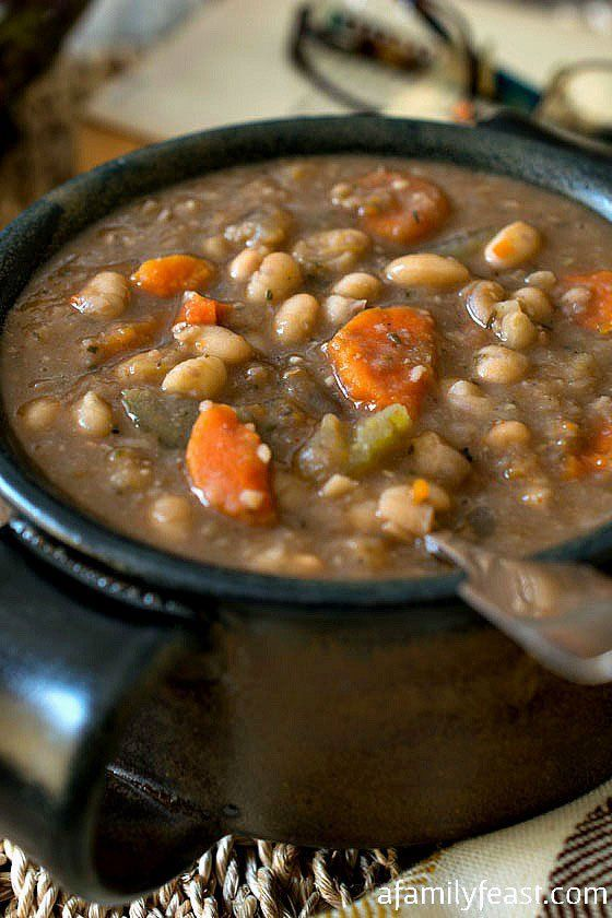 ... Cooker Tuscan White Bean Soup - A simple, flavorful and hearty soup