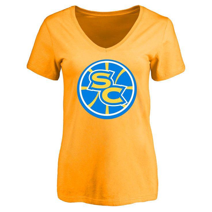 Santa Cruz Warriors Women's Secondary Logo Slim Fit T-Shirt - Gold - $24.99