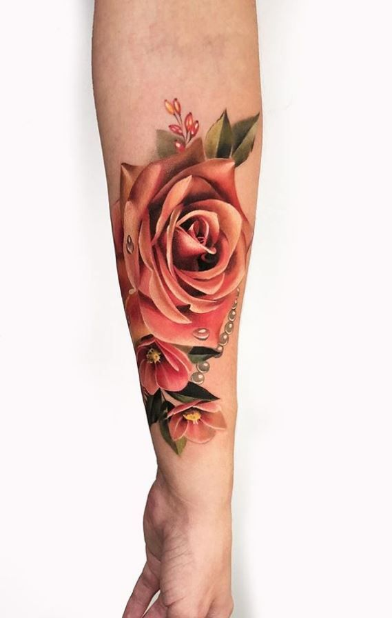 50 Best Pastel Color Flower Tattoos For Girls Shake That Bacon Realistic Flower Tattoo Girl Tattoos Girls With Sleeve Tattoos