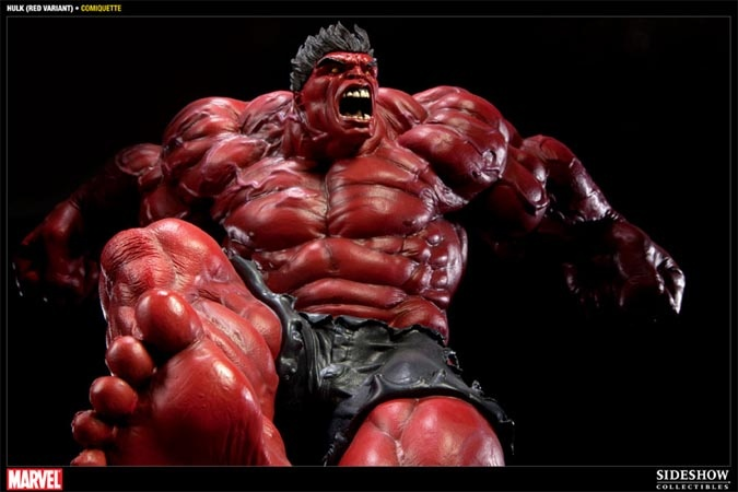 Alter Ego Comics is pleased to offer the Red Hulk Comiquette. This limited edition Red Hulk statue is only available through authorized Sideshow Collectibles' retailers (like us).    The Red Hulk Comiquette stands two feet tall (1:5 scale) and each piece is individually painted and numbered.