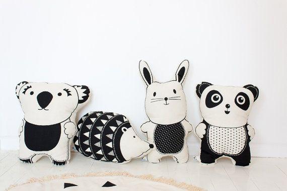 Rabbit Cushion Pillow Pre Order Screen Print by BabeeandMe on Etsy