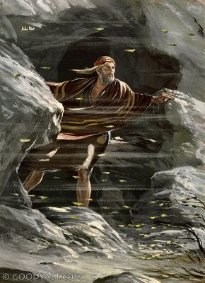 1 Kings 19: Elijah on the mountain before the Lord