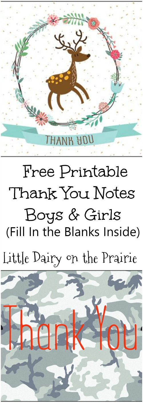 Unfortunately, sending thank you notes almost seems to be a thing of the past. These fill in the blank, thank you notes make it easy for children to write thank you notes! | Little Dairy on the Prairie