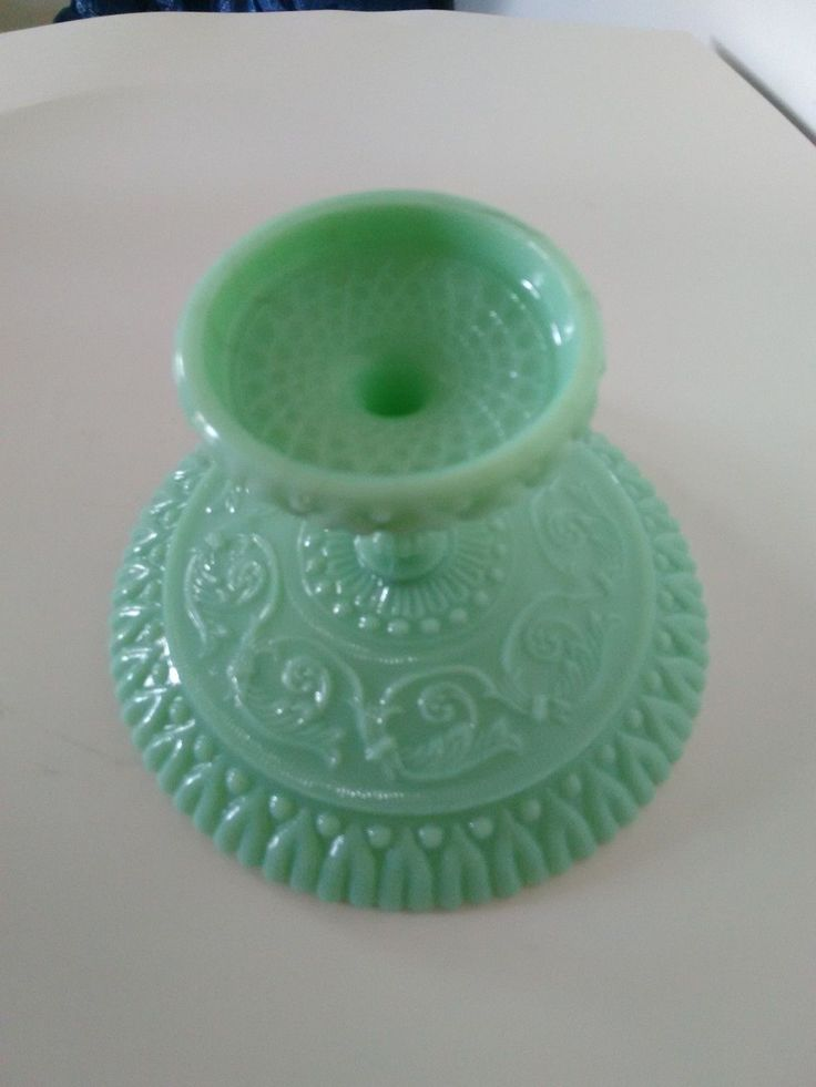 RARE Antique French Milk Glass Green Cup | eBay