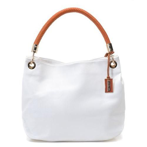 I must have this one!  Michael Kors Collection Medium White Shoulder Bags $94.99