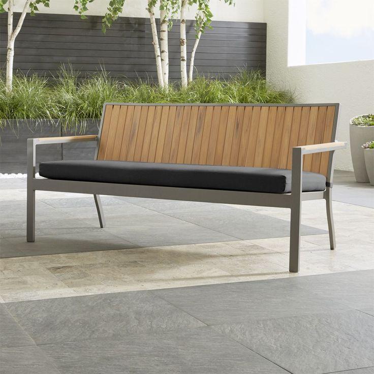"Alfresco Natural Sofa with Sunbrella ® 3"""" Cushion"