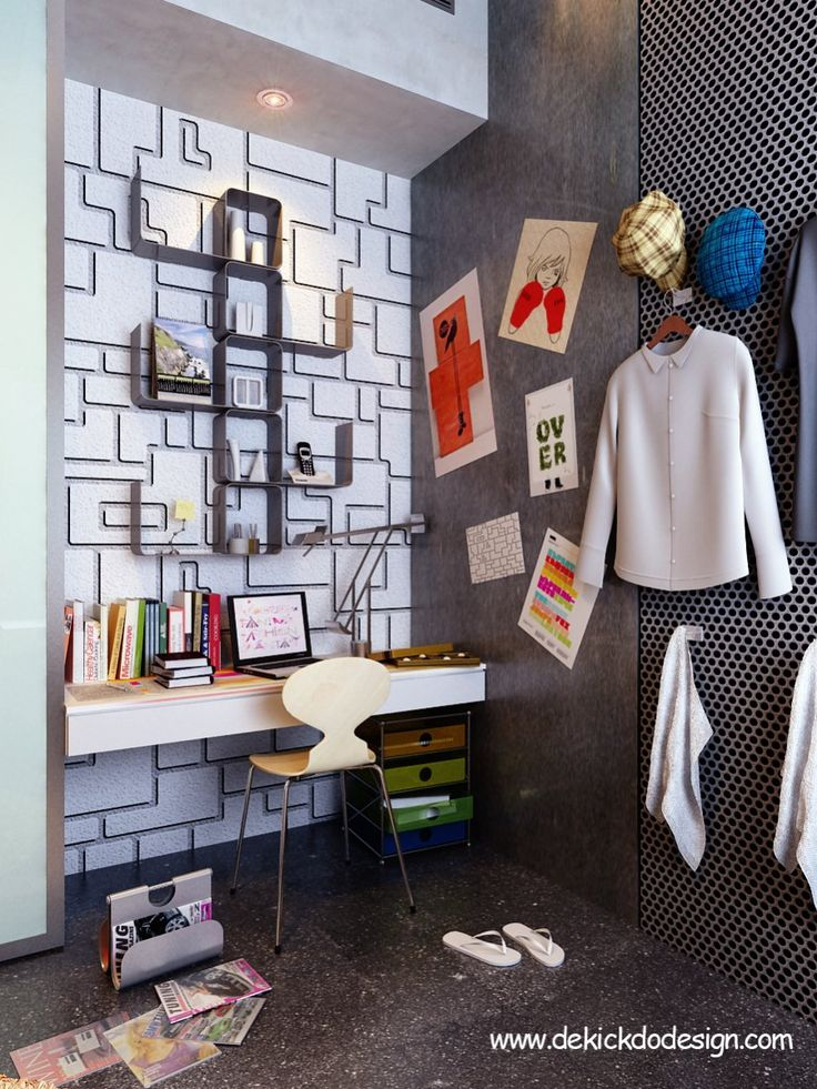 Creative Teen Bedroom Design: 17 Best Images About Creative Study Room On Pinterest