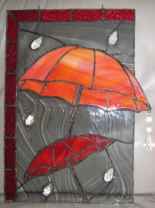 Optimistic Red Umbrellas - by Fleeting Stillness